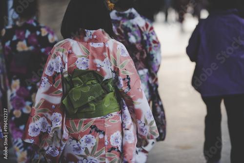 Poster Kyoto 着物 女性 日本