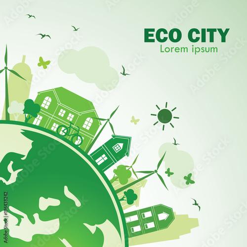 Poster Eco city
