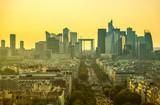 Paris skyline. View of Champs Elysees and La Defense in Paris, France - 196438829