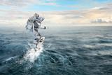 Astronaut on board. Mixed media - 196444085