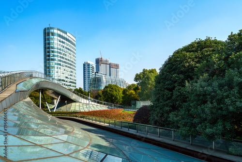 Fotobehang Shanghai China Shanghai Lujiazui financial district