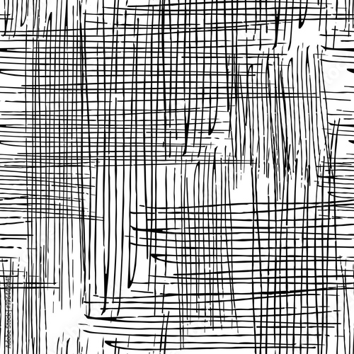 Vector seamless grunge texture of the intersecting lines. - 196449041