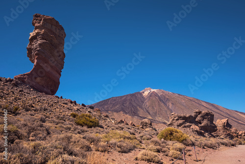 Fotobehang Zalm Teide national park on a sunny day Tenerife, Canary islands, Spain.
