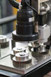 operator inspection high precision part by automate vision system