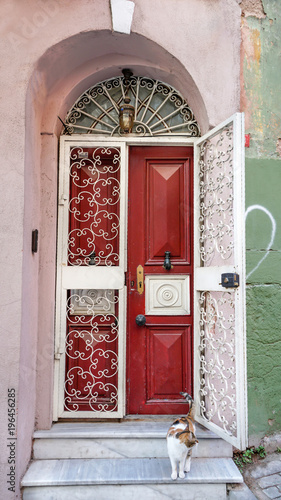 Fototapeta Traditional house at Balat District in Istanbul, Turkey.