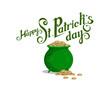 Happy St.Patrick's Day. Saint Patrick's day Lettering. Heavenly patron of Ireland - Saint Patrick.