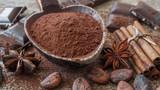 Kakao, çikolata ve baharatlar - 196472872