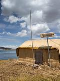 Lake titicaca Peru. Uros indian cultur. Puno
