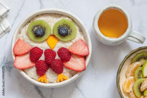 Kids breakfast oatmeal porridge