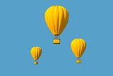 Hot Air Balloon Isolated - 196489606