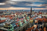 Panorama of the old town in Wroclaw, Silesia, Poland