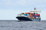 cargo container ship sailing - 196493604