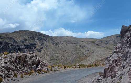 Fotobehang Grijs Peru. Desert and Mountains near Chivay and Colca Canyon