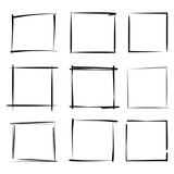blank grunge rectangle frame set - 196500473
