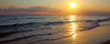 Beautiful sunrise on the Greek beach. - 196504439