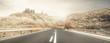 strada assolata desertica