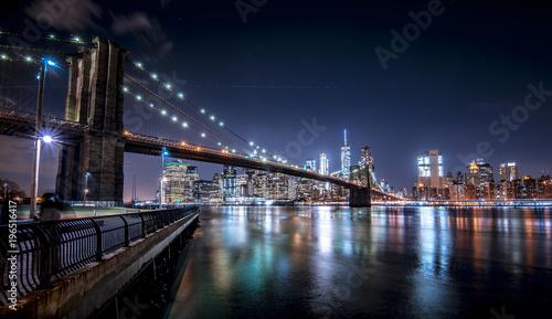 Foto op Aluminium New York Brooklyn Bridge and New York skyline from Brooklyn (Panorama)