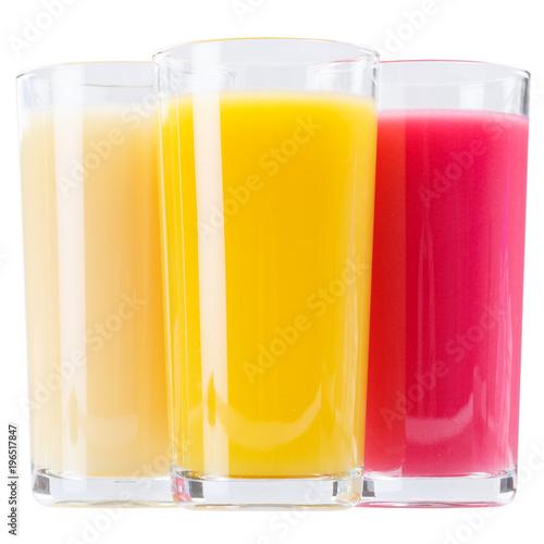 Poster Sap Saft im Glas Fruchtsaft Quadrat isoliert freigestellt Freisteller