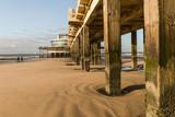 Pier am Strand von Belgien