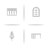 Furniture simple linear icon set.Simple outline icons - 196521604
