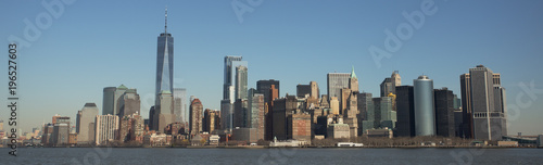 Manhattan Skyline and One World Trade Center - 196527603