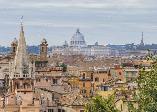 Rzym widok z lotu ptaka z punktu widzenia Pincio