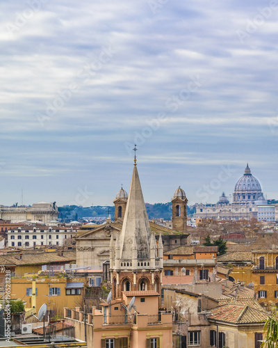 Tuinposter Rome Rome Aerial View From Pincio Viewpoint