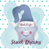 good night and sweet dreams illustration vector design - 196528632
