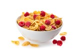 Bowl of Cornflakes and Raspberries - 196532266
