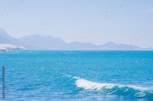 In de dag Blauw ocean landscape