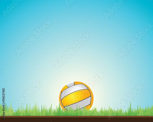 Foto op Aluminium Bol volleyball background