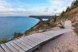 Sleeping Bear Dunes Overlook in Northern Michigan on Sunny Day - 196542868