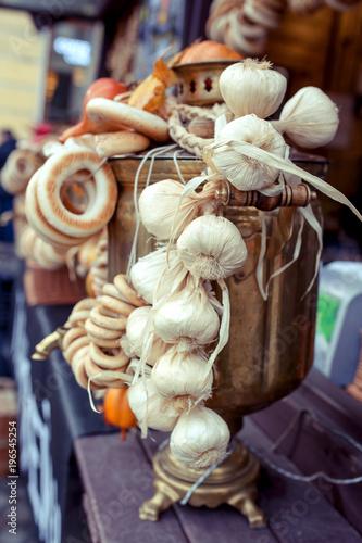 Staande foto Klaprozen bagels with poppy at russian fair