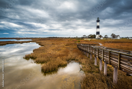 North Carolina Outer Banks Scenic Landscape Bodie Island Lighthouse NC