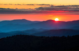 Clingmans Dome Great Smoky Mountains National Park Scenic Sunset Landscape