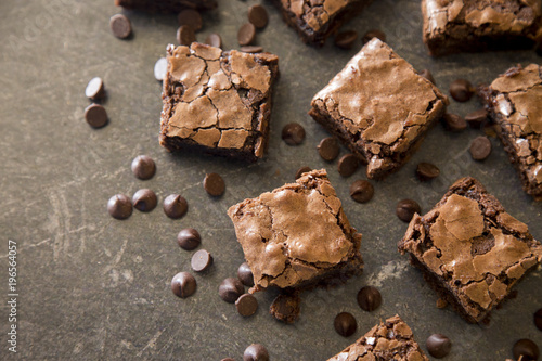 Wall mural Homemade Gooey Double Chocolate Brownies