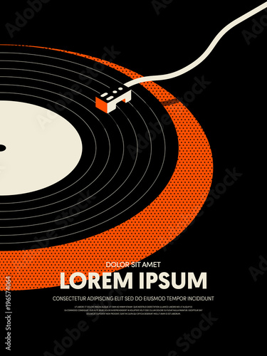 In de dag Vintage Poster Music retro vintage abstract poster background