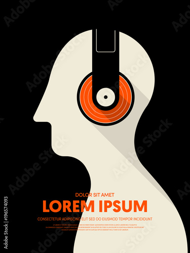Fotobehang Vintage Poster Music retro vintage abstract poster background