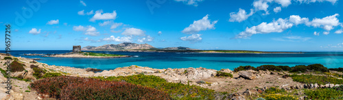 Panoramic landscape of the beach of Stintino - 196577216