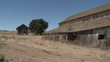 Pan across an old barn in the Salinas Valley, Monterey County, California. - 196579237