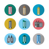 Urban buildings collection - 196582818