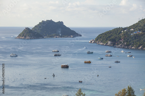 Aluminium Thailand beautiful scenic high angle view of koh tao and koh nangyuan in southern of thailand