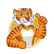 Tiger mascot character design