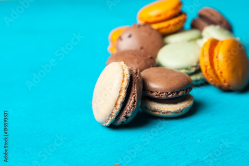 Assortment of macaron cookies Poster