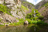 River in the Tian Shan mountains in the spring - 196594497