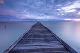 seascape with wooden jetty