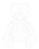 Plush bear polygonal