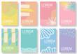Creative vector template card,Springtime collection