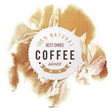 Coffee paper emblem - 196603209