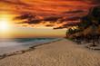Quadro Sonnenuntergang über dem Strand von Tulum, Riviera Maya, Karibik, Mexiko